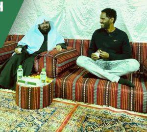 American tourist, Steve, embraces Islam before Sheikh Al-Sudais